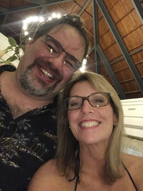 In this undated selfie taken by Tammy Lawrence-Daley, shows her with her husband Chris Daley. Police in the Dominican Republic are investigating an attack on Lawrence-Daley at a resort in Punta Cana, Dominican Republic in January. Lawrence-Daley made the attack public on social media, detailing a vicious hours-long assault by a man she said was wearing the uniform of an all-inclusive resort. (Tammy Lawrence-Daley via AP)