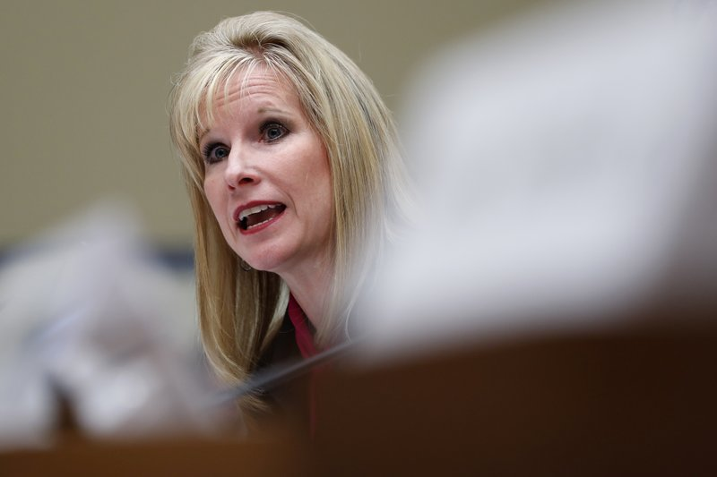 Kimberly Del Greco, FBI Deputy Assistant Director of Criminal Justice Information Services, testifies during a House Oversight and Reform committee hearing on facial recognition technology in government, Tuesday June 4, 2019, on Capitol Hill in Washington. (AP Photo/Jacquelyn Martin)