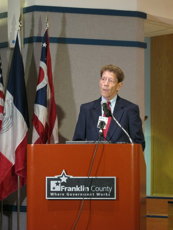 Franklin County Prosecutor Ron O'Brien announces murder charges against former critical-care doctor William Husel in the deaths of 25 hospital patients, at a news conference Wednesday, June 5, 2019, in Columbus, Ohio. Husel pleaded not guilty. (AP Photo/Kantele Franko)
