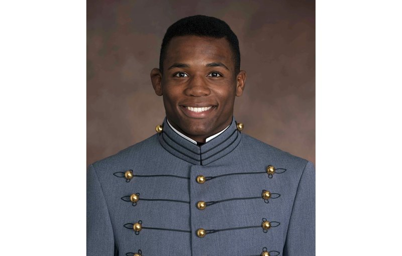 This undated photo provided by the U.S. Military Academy West Point shows Cadet Christopher J. Morgan, Class of 2020, from West Orange, NJ, who died Thursday June 6, 2019 when a vehicle loaded with West Point cadets on summer training overturned in rough, wooded terrain. (U.S. Military Academy West Point via AP)