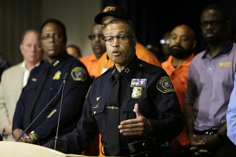 Detroit Police Chief James Craig answers questions during a press conference, Friday, June 7, 2019, at the Detroit Police Headquarters in Detroit, addressing the police response to a possible serial killer. Investigators believe a