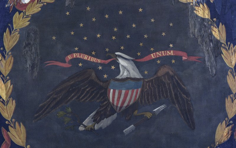 This undated photo provided by Morphy Auctions shows a 127th Regiment United States Colored Troops battle flag in Denver, Pa. The flag was carried into battle by one of the 11 black Union regiments during the Civil War is going up for auction in Pennsylvania. The flag was painted by David Bustill Bowser, an African American artist who was a member of one of the regiments and the son of a fugitive slave. (Morphy Auctions via AP)