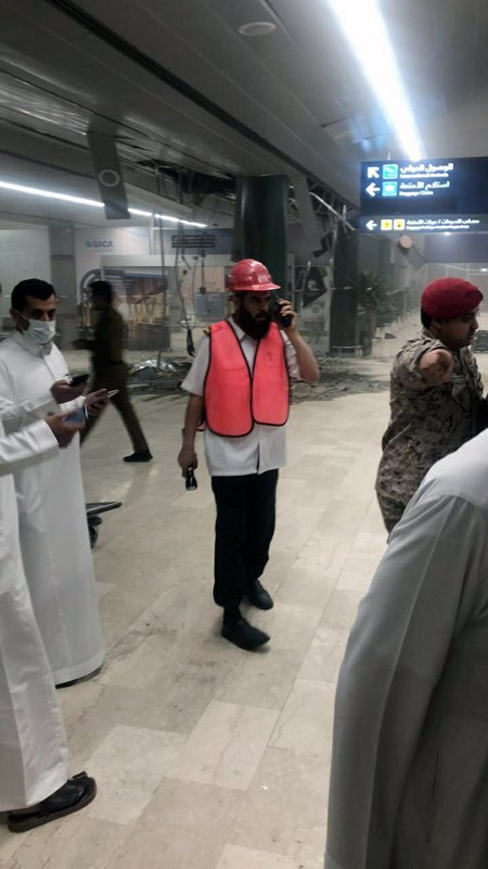 This photograph released by the state-run Saudi Press Agency shows damage inside Abha Regional Airport after an attack by Yemen's Houthi rebels in Abha, Saudi Arabia, Wednesday, June 12, 2019. Yemen's Iranian-backed Houthi rebels said they attacked the airport with a cruise missile. Saudi officials said the attack wounded more than 20 people. (Saudi Press Agency via AP)