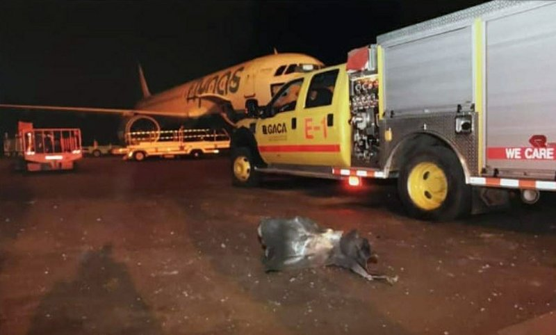 This photograph released by the state-run Saudi Press Agency shows debris on the tarmac of Abha Regional Airport after an attack by Yemen's Houthi rebels in Abha, Saudi Arabia, Wednesday, June 12, 2019. Yemen's Iranian-backed Houthi rebels said they attacked the airport with a cruise missile. Saudi officials said the attack wounded more than 20 people. (Saudi Press Agency via AP)