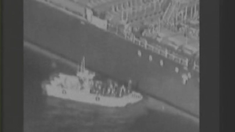 The U.S. military on Friday released a video it said showed Iran's Revolutionary Guard removing an unexploded limpet mine from one of the oil tankers targeted near the Strait of Hormuz, suggesting the Islamic Republic sought to remove evidence of its involvement from the scene. (June 14)