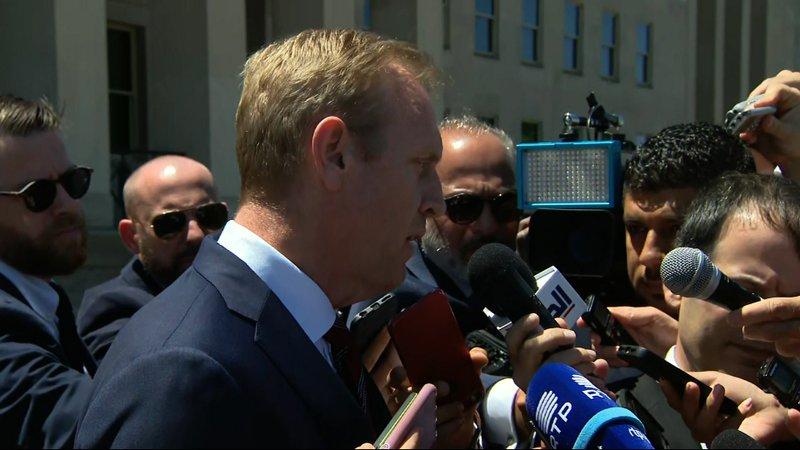 In response to attacks on oil tankers near the strategic Strait of Hormuz, acting Defense Secretary Patrick Shanahan said Iran is not just a U.S. problem. He said the U.S. goal is to