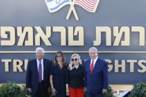 Israel names a new settlement in Golan Heights after President Trump