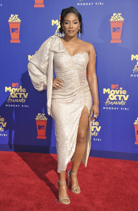 Tiffany Haddish arrives at the MTV Movie and TV Awards on Saturday, June 15, 2019, at the Barker Hangar in Santa Monica, Calif. (Photo by Richard Shotwell/Invision/AP)
