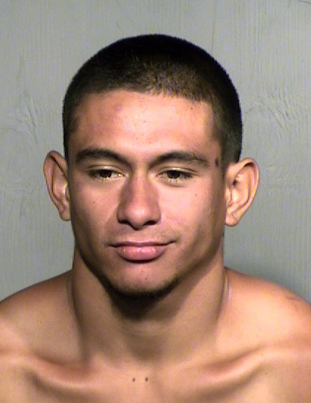 This undated photo from the Maricopa County Sheriff's Office shows Jose Vega Meza. Police say Vega Meza was booked on suspicion of animal cruelty for beheading his roommate's dog Saturday, June 15, 2019, in Buckeye, Ariz., because she owed rent money to their landlord, who is Vega Meza's mother. It's unclear whether Vega Meza, who remains jailed, has an attorney who can comment on his behalf. (Maricopa County Sheriff's Office via AP)