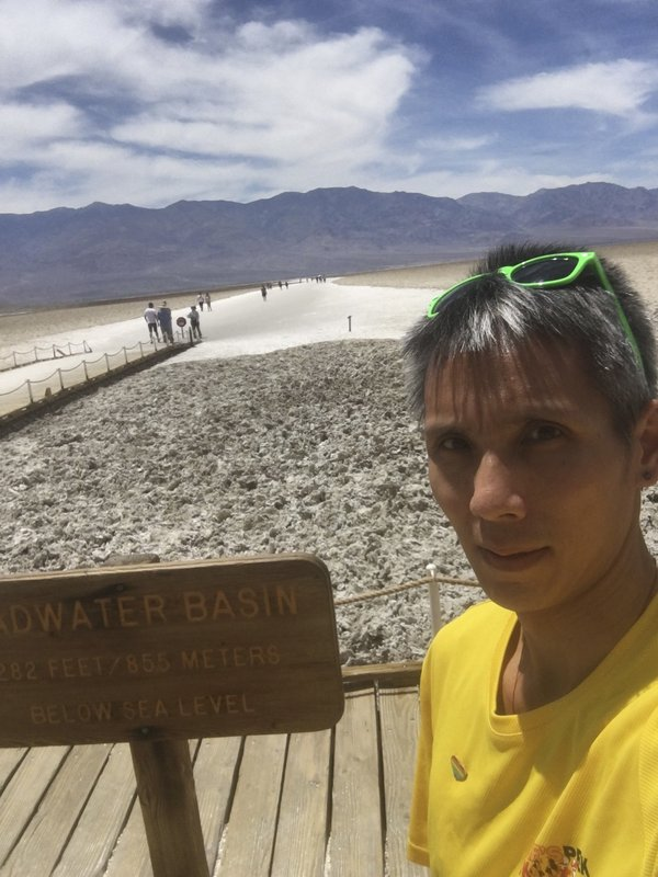 In this photo provided by the Inyo County Sheriff's Office is the last known photo of Ling Dao that he sent to a friend on June 11, 2019. Family members say a 41-year-old Virginia man who is believed missing on Mount Whitney in California was an accomplished hiker and marathon runner who has been determined to summit the peak since a failed attempt last year. Search and rescue efforts continued Tuesday, June 18, 2019, for a third day to look for Ling Dao, who was reported missing June 14. (Inyo County Sheriff's Office via AP)