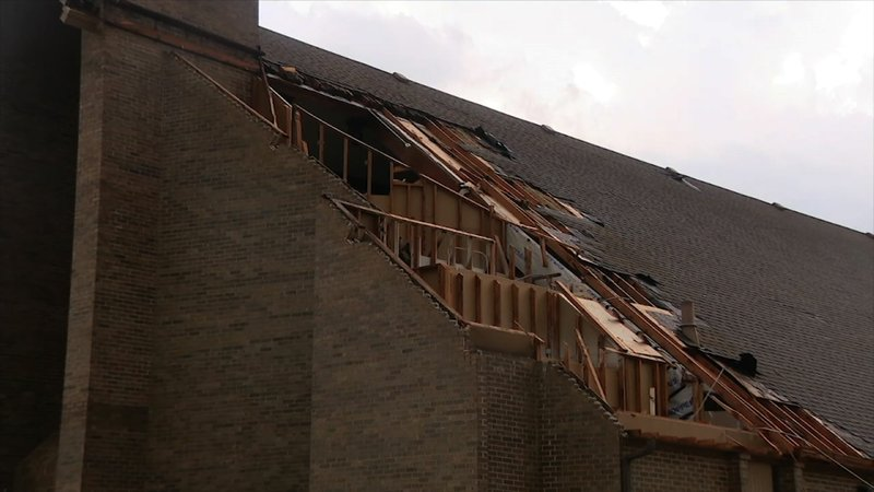 A severe storm that local officials reported as a tornado struck the northeast Texas city of Greenville, causing widespread tree and roof damage. There were no immediate reports of injuries. (June 20)