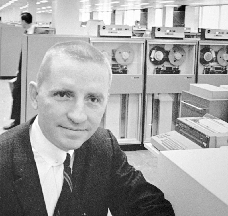 FILE - In this Oct. 30, 1968, file photo, H. Ross Perot,  Electronic Data Systems Corp. chairman, poses in Plano, Texas. Perot, the Texas billionaire who twice ran for president, has died, a family spokesperson said Tuesday, July 9, 2019. He was 89. (AP Photo/File)