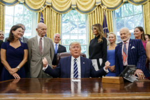 Apollo 11 crew meet President Trump marking 50 years since first moon-landing