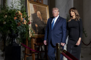 President Trump, First Lady pay respects to Justice Stevens