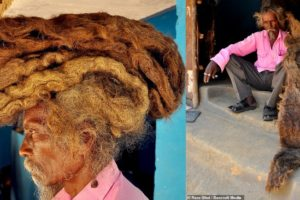 Idian man hasn't washed or cut his six-foot deadlocks in 40 years, calls them a 'blessing from God'