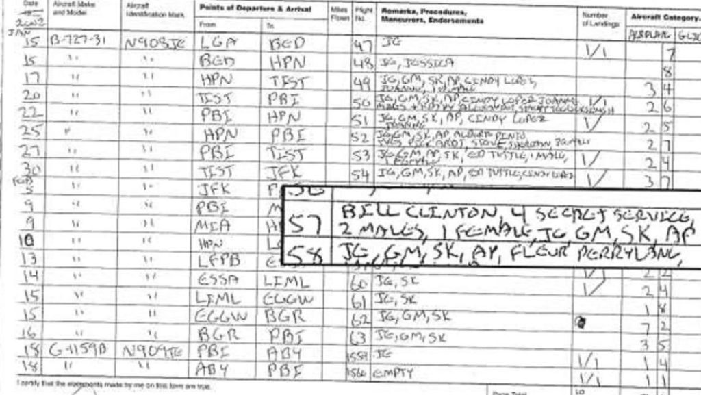 The flight records of the Epstein plane according to the General Aviation Administration.