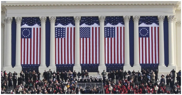 Betsy Ross flag flew prominently during then-President Barack Obama's second inauguration ceremony in 2013