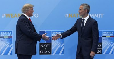President Trump shows a spending chart, says NATO very unfair to US