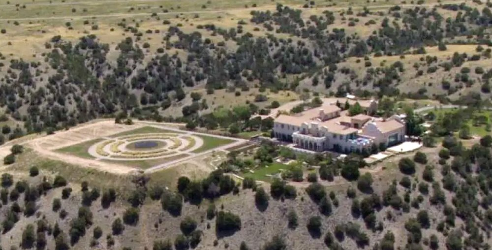 Jeffrey Epstein's Zorro Ranch in Stanley, N.M. is shown Monday, July 8, 2019. Epstein is entangled in two legal fights that span the East Coast, challenging his underage sexual abuse victims in a Florida court hours after he was indicted on sex trafficking charges in a separate case in New York. (KRQE via AP)