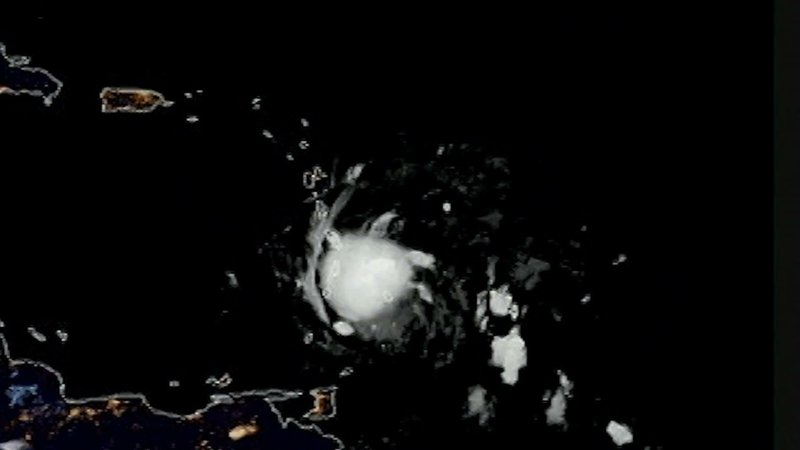 Tropical Storm Dorian was approaching the Caribbean early Tuesday. Forecasters say the storm could brush by Puerto Rico as a Category 1 Hurricane late Wednesday before striking the southeast corner of the Dominican Republic early Thursday. (Aug. 27)