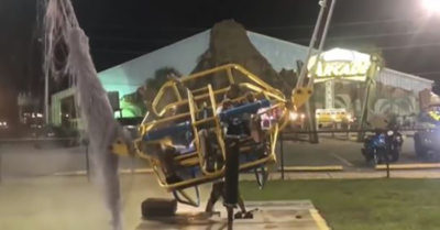 Bungee cord snaps on Florida park slingshot ride before launching