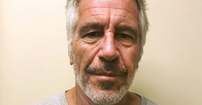 FILE - This March 28, 2017, file photo, provided by the New York State Sex Offender Registry shows Jeffrey Epstein. Epstein has died by suicide while awaiting trial on sex-trafficking charges, says person briefed on the matter, Saturday, Aug. 10, 2019. (New York State Sex Offender Registry via AP, File)