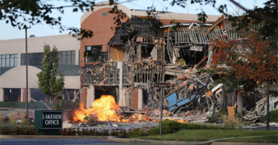Maryland gas explosion destroys shopping center, residents felt over a mile away