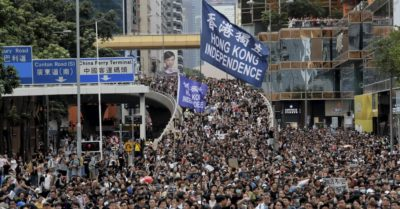 Pro-Hong Kong demonstrations are sprouting up in other cities