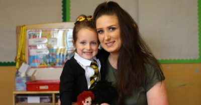 Five-year-old Scottish girl's first day at school goes viral