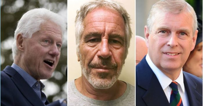From left to right: Former U.S. President Bill Clinton, late financier Jeffrey Epstein and British Prince Andrew of York (AP Photo/John Minchillo, File; New York State Sex Offenders Registry via AP, File; Wikipedia)