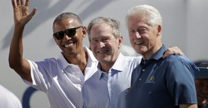 """""""I don't blame President Xi. I blame all of our presidents, and not just President Obama. You go back a long way. You look at President Clinton, Bush—everybody."""" (President Donald Trump). (AP Photo/Julio Cortez)"""