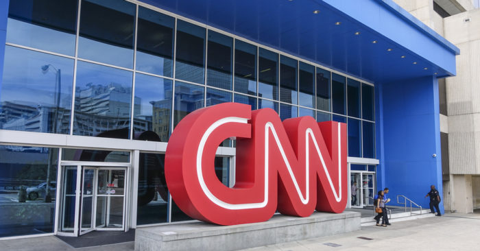 The facade of one of the buildings of CNN. (Shutterstock.com)