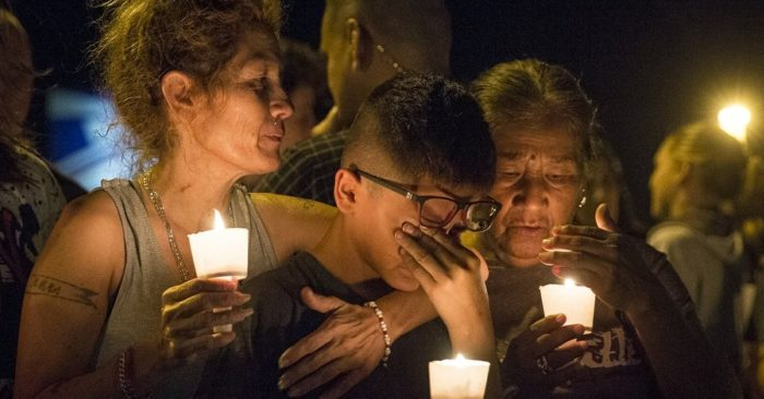 Candlelight vigil for victims of a fatal shooting at First Baptist Church in Sutherland Springs, November 5, 2017, in Sutherland Springs, Texas/AP