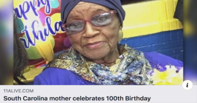 South Carolina mother shares her secret on 100th birthday: being good