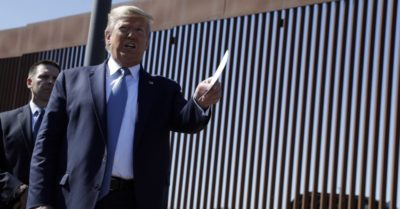 Trump visits 'world-class security system' at San Diego border wall