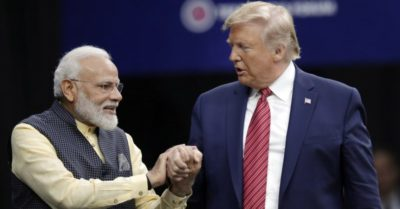 Electric scenes as President Trump and Prime Minister Modi address Indian Americans at Houston rally