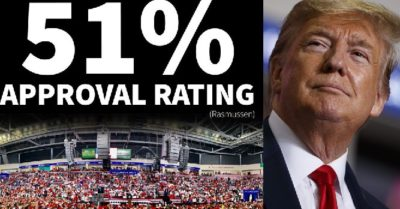 Rasmussen Poll: President Trump's approval rating hits highest since mid-June