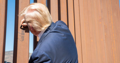 In photos: President Trump takes a firsthand look at border wall progress