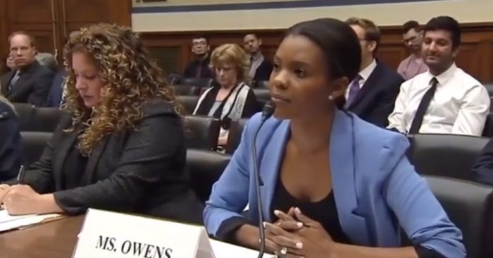 African American activist Candace Owens at a hearing before the U.S. Congress on Sept. 20. (YouTube Screenshot)
