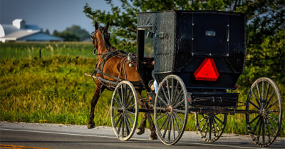 Two Amish men caught drinking while riding buggy with stereo system flee Ohio deputies