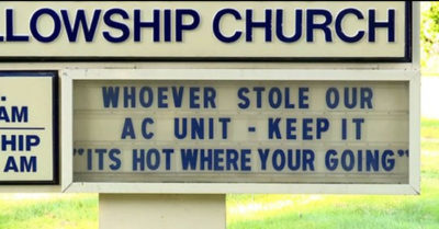 'It's hot where you're going': Ohio church strong message to air conditioning thieves