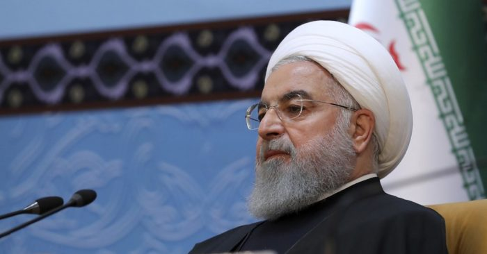 Iranian President Hassan Rouhani. (Office of the Iranian Presidency via AP)