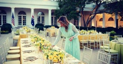 Melania Trump posts gorgeous photos of the state dinner in the Rose Garden