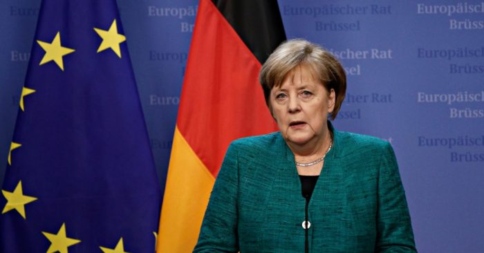Angela Merkel, Chancellor of Germany, at a press conference in Brussels, Belgium, at the summit of the European Council on Dec. 15, 2017. (Shutterstock).