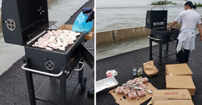 Food truck driver makes meals for drivers stranded in Texas caused by flooding