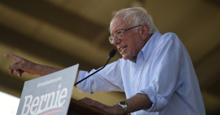 Democratic presidential candidate Bernie Sanders speaks at a Medicare for All campaign event on Aug. 30, 2019 in Florence, S.C. (Foto AP/Meg Kinnard)