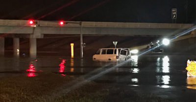 Texas man rescued from submerged vehicle dies in the hospital, sheriff said