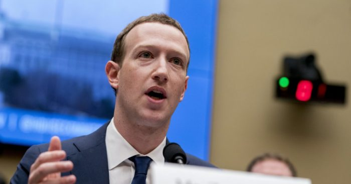 Mark Zuckerberg testifies before a Chamber of Energy and Commerce hearing on Capitol Hill in Washington about the use of Facebook data to attack U.S. voters in the 2016 election and data privacy. (AP / Andrew Harnik, File)