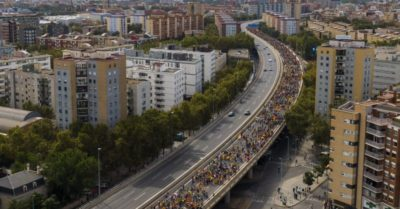 Protests paralyze Catalonia as marches head for Barcelona
