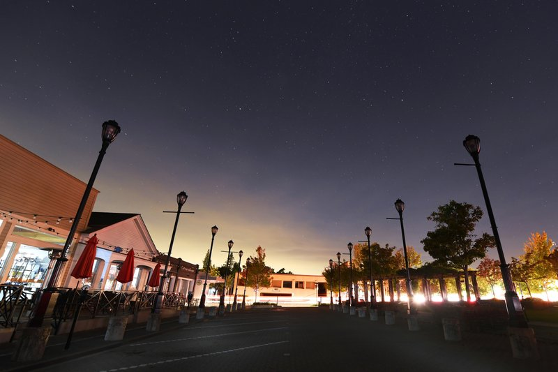 Street lights have no electricity during a Pacific Gas & Electric outage in Lafayette, Calif., on Saturday, Oct. 26, 2019. A Northern California blaze forced evacuation orders and warnings for nearly all of Sonoma County stretching to the coast, with forecasts of strong winds prompting officials to start cutting electricity for millions of people in an effort to prevent more fires. (Jose Carlos Fajardo/East Bay Times via AP)